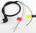 Cable micro USB SJ4000 o SJ6000 conector a transmisor de video F