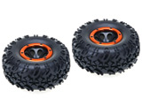 18017 Set 2 ruedas crawler 126x55mm 1:10 completas 18072