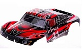 55904 HSP Carroceria rojo-negra Rally Monster 1:10 46x23 cm