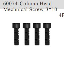 60074 - Cap Head Self-tapping Screw 3*10 4P