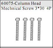 60075 - Cap Head Self-tapping Screw 3*30 4P