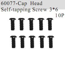 60077 - Cap Head Self-tapping Screw 3*6 12P