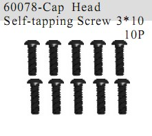 60078 - Cap Head Self-tapping Screw 3*10 12P