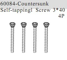 60084 - Countersunk Self-tapping Screw 3*40 4P