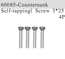 60085 - Countersunk Self-tapping Screw 3*25 4P
