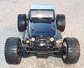 Monster 4x4 1:10 Brontosaurus HSP a 2.4 GHz. Jeep Negro