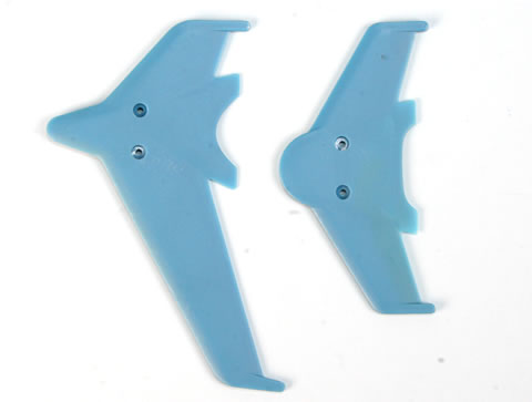 EK1-0442L - Vertical & horizontal tail blade set(blue)