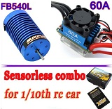 Combo brushless buggy truggy coches 1/10 E-FLY FB540L-9T 3150KV 60A 700W