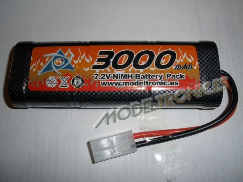 Batería NIMH 7,2V, 3.000 mAh Modeltronic conector Tamiya-0