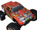 Monster 4x4 1:10 Brontosaurus HSP a 2.4 GHz. Pickup Rojo