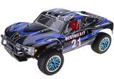 Coche nitro RC RALLY MONSTER 1:10 HSP NITRO 2.4 GHz + chispometro +1L combustible Azul-negro