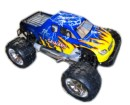 Coche gasolina nitro monster HSP 1:8 SAVAGERY con motor 26CPX +1L combustible + KIT arranque azul-amarillo