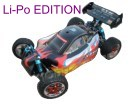 [TOP Li-Po] Buggy brushless HSP 1:10 XSTR PRO LIPO EDITION 80km/h Negro-rojo