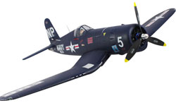 Avión Dynam CORSAIR F4U con tren retráctil Brushless PNP 1270mm