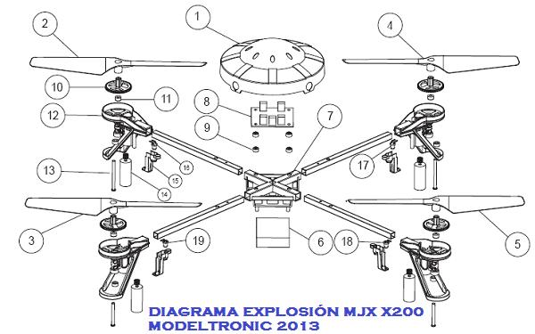 repuestos cuadric u00f3ptero mjx x200