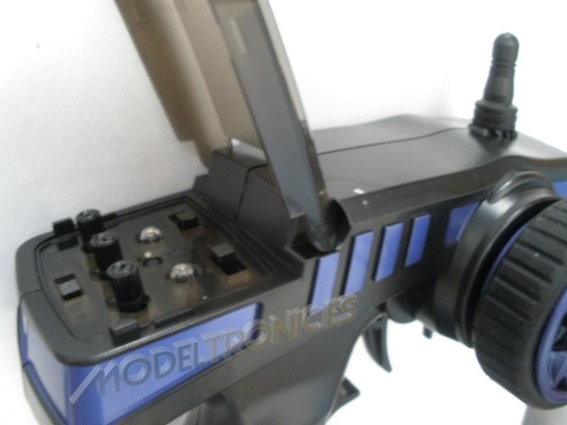 Monster 4x4 1:10 Brontosaurus HSP a 2.4 GHz. Camión azul-negro-15