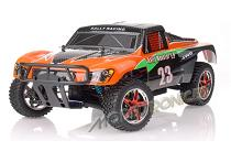 Coche nitro RC RALLY MONSTER 1:10 HSP NITRO 2.4 GHz + chispometro +1L combustible Naranja-carbon