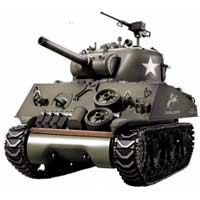 Tanque rc 1:16 Sherman M4A3 Heng Long humo emisora 2.4G Airsoft 6mm 3898-1