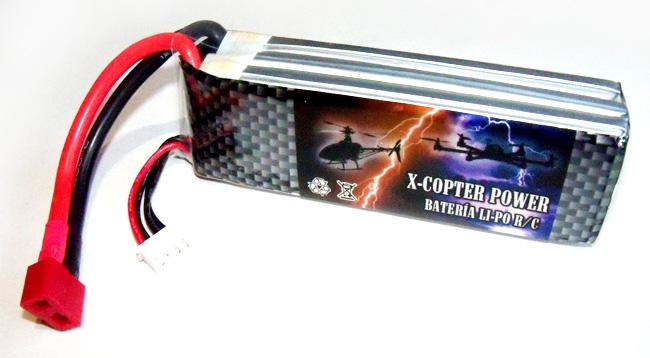 Batería Li-Po X-COPTER Power 11,1v 2.200 mAh descarga 30C-0