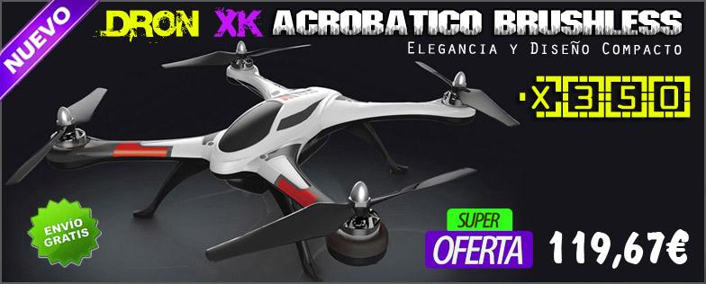Dron Acrob�tico Brushless X350 4CH 6-Axis Modo 3D RTF XK