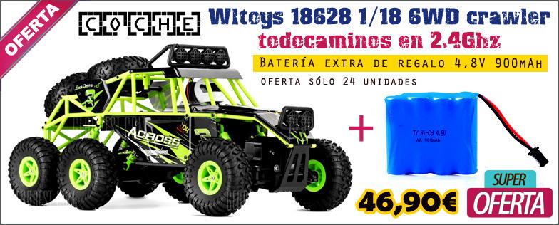 Coche RC Wltoys 18628 1/18 6WD crawler todocaminos en 2,4Ghz + bater�a extra REGALO