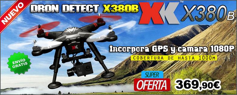 Dron DETECT X380-B XK-INNOVATION con GPS con c�mara 1080P