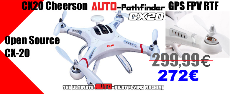 Dron CX20 Cheerson Auto-Pathfinder GPS FPV RTF Open Source CX-20
