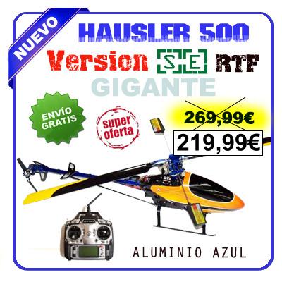Helicóptero GIGANTE Hausler 500SE RTF con emisora FS-T6 a 2.4GHz.