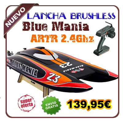 8652 - Lancha Blue Mania Brushless 2.4G ARTR