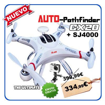 Cuadricoptero CX20 Auto-Pathfinder GPS FPV Open Source + SJ4000