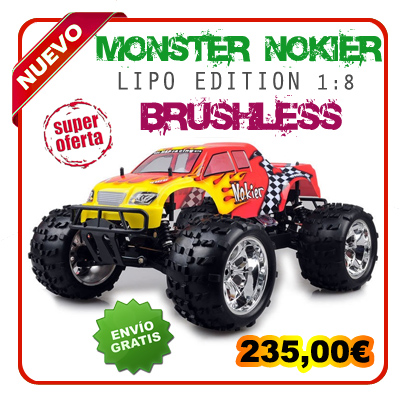 Monster 1:8 HSP NOKIER Brushless Lipo Edition Rojo