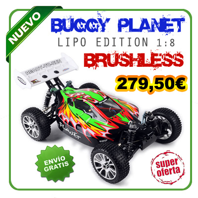 [TOP Li-Po] BUGGY 1:8 Planet Brushless LIPO EDITION NEGRO
