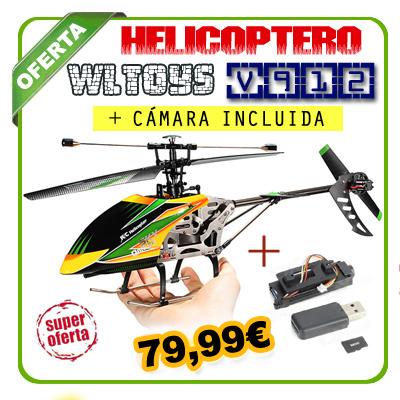V912S WLTOYS MAX Helic�ptero 40cm CON CAMARA incluida