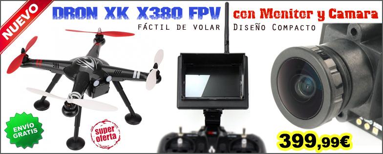 Dron XK X380 FPV version con monitor y c�mara