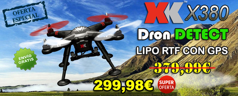 Dron DETECT X380 XK-INNOVATIONS LIPO RTF CON GPS