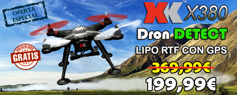 Dron profesional DETECT X380 XK-INNOVATIONS RTF con GPS