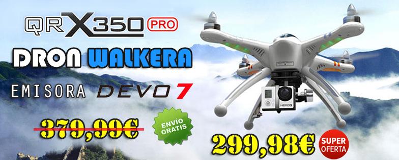 DRON WALKERA QR X350 PRO RTF CON GPS Y EMISORA DEVO 7